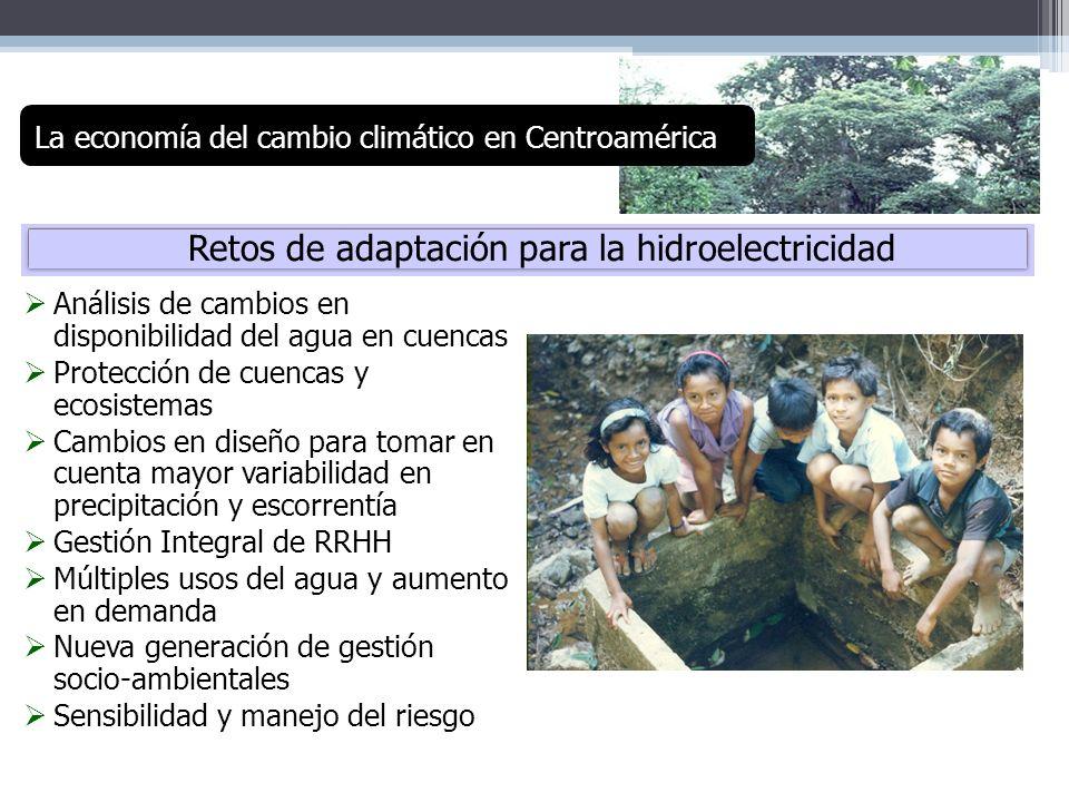 Retos de adaptación para la hidroelectricidad