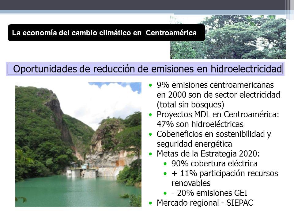 Oportunidades de reducción de emisiones en hidroelectricidad