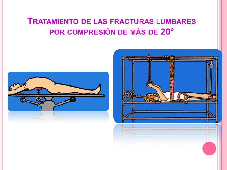 Tratamiento de las fracturas lumbares por compresión de más de 20°
