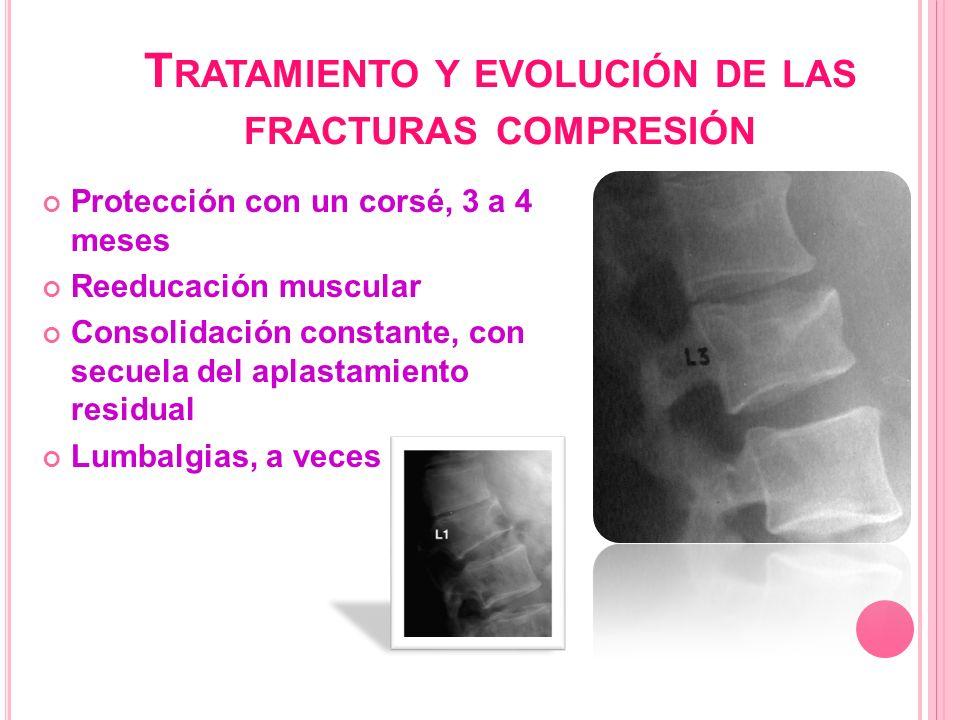 Tratamiento y evolución de las fracturas compresión