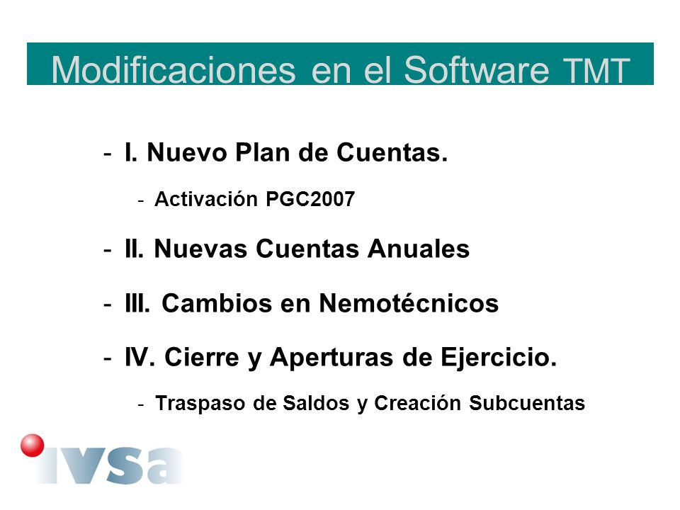 Modificaciones en el Software TMT