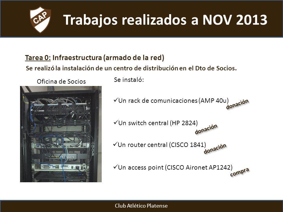 Trabajos realizados a NOV 2013