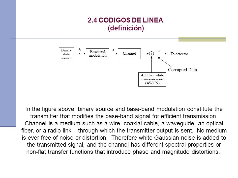 2.4 CODIGOS DE LINEA (definición)