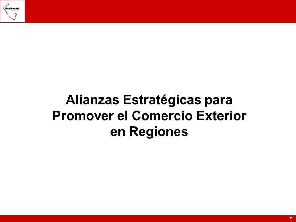 Alianzas Estratégicas para Promover el Comercio Exterior en Regiones