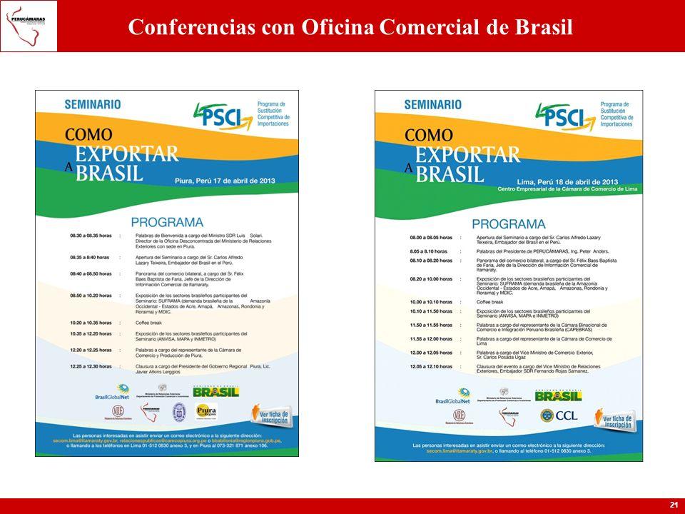 Conferencias con Oficina Comercial de Brasil