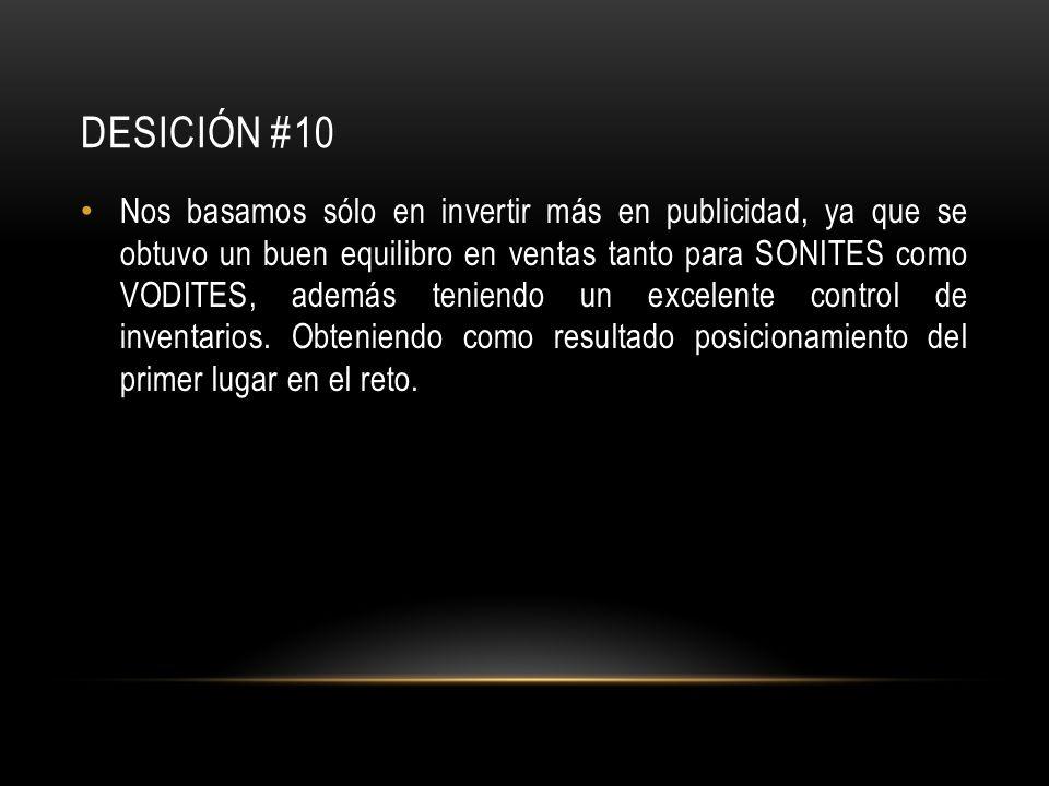 DESICIÓN #10