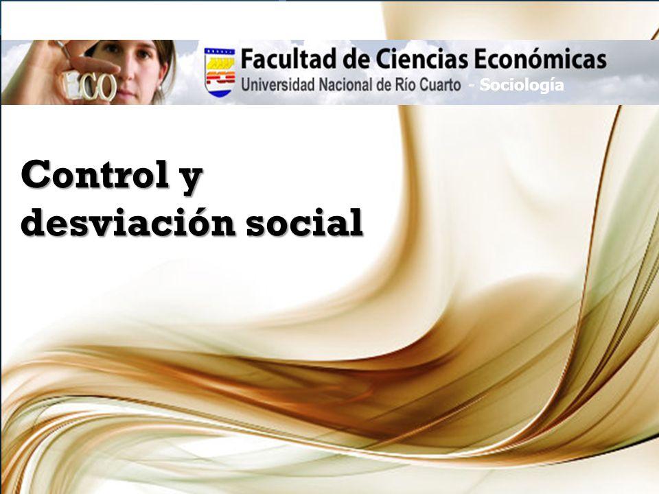 Control y desviación social