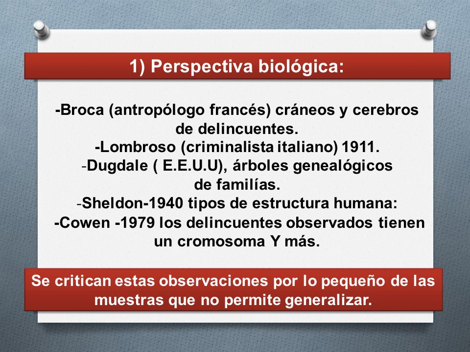 1) Perspectiva biológica: