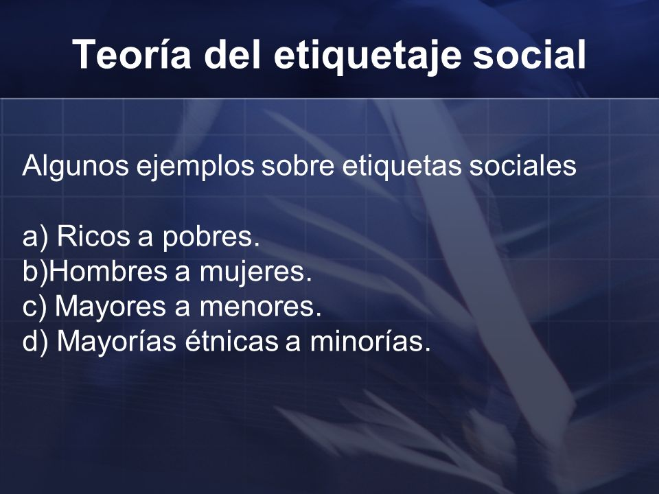 Teoría del etiquetaje social