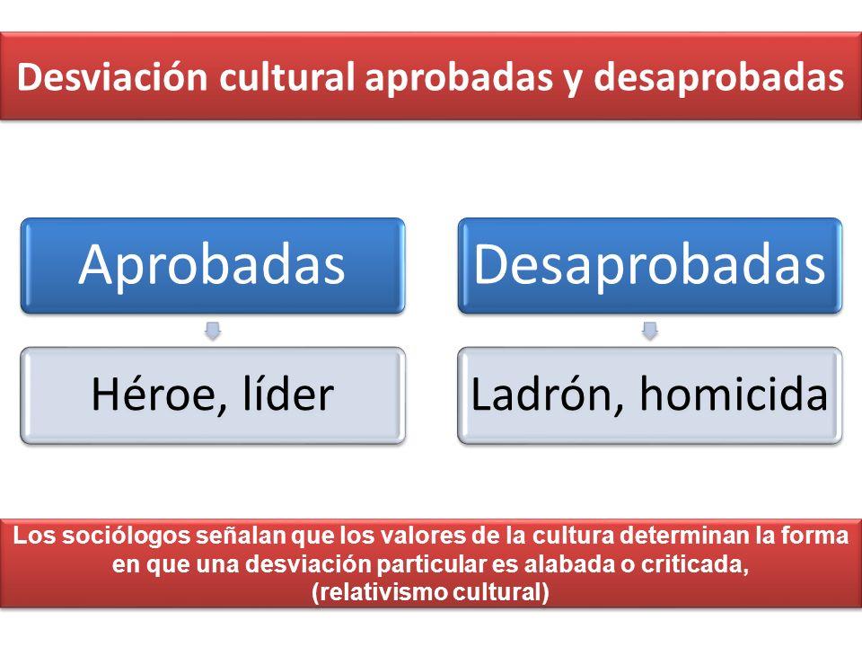 Desviación cultural aprobadas y desaprobadas