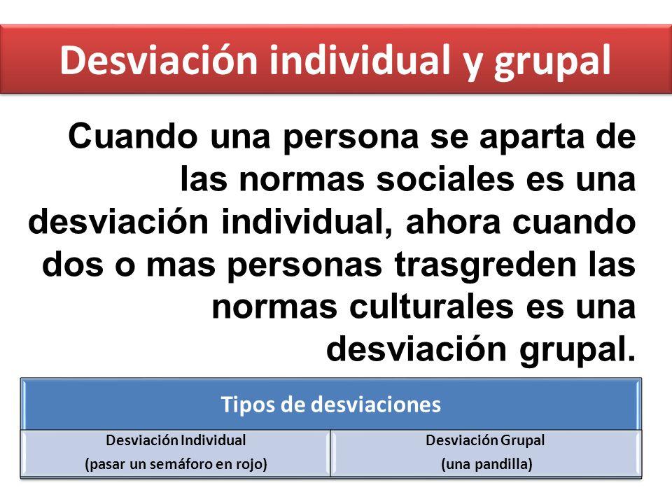 Desviación individual y grupal