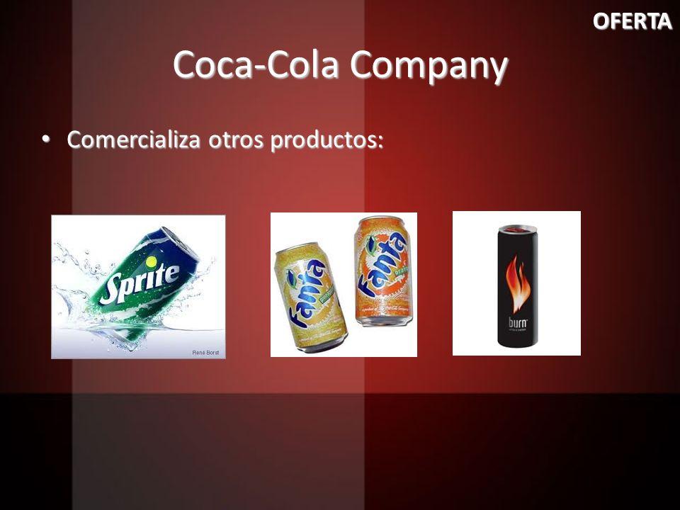 OFERTA Coca-Cola Company Comercializa otros productos: