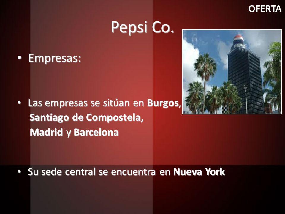Pepsi Co. Empresas: Las empresas se sitúan en Burgos,