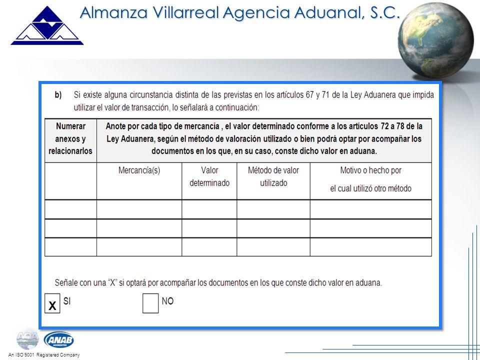 Almanza Villarreal Agencia Aduanal, S.C.
