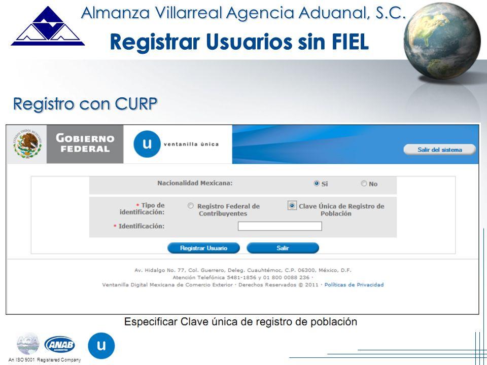 Registrar Usuarios sin FIEL Registrar Usuarios sin FIEL