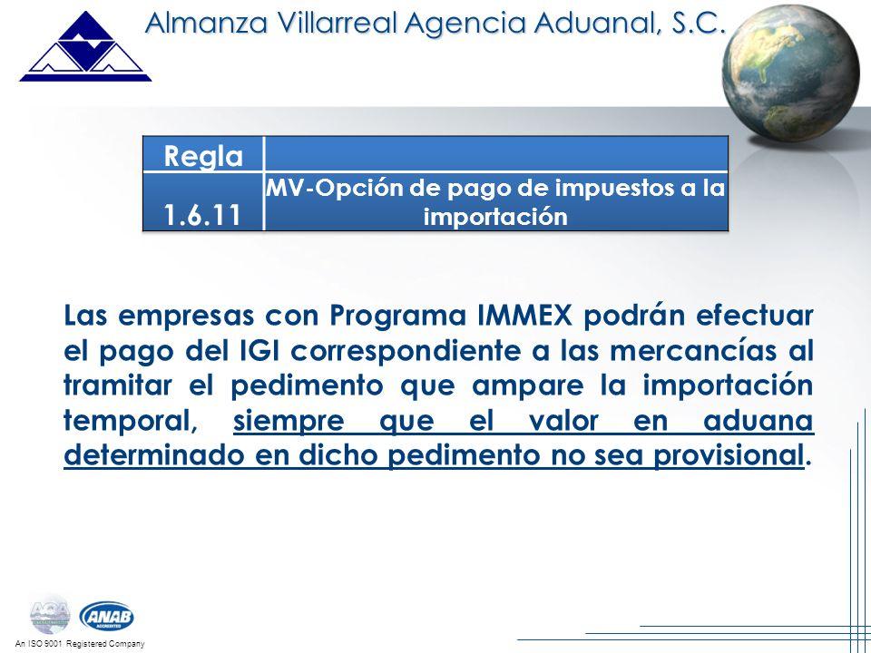 MV-Opción de pago de impuestos a la importación