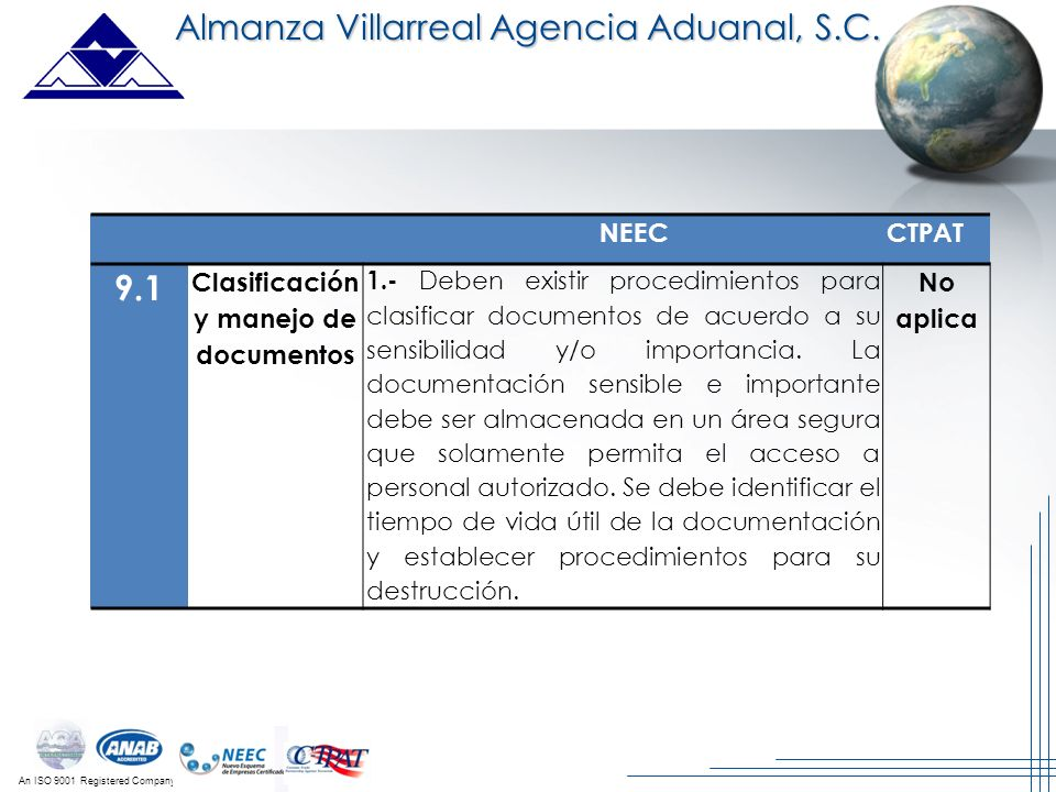 Clasificación y manejo de documentos