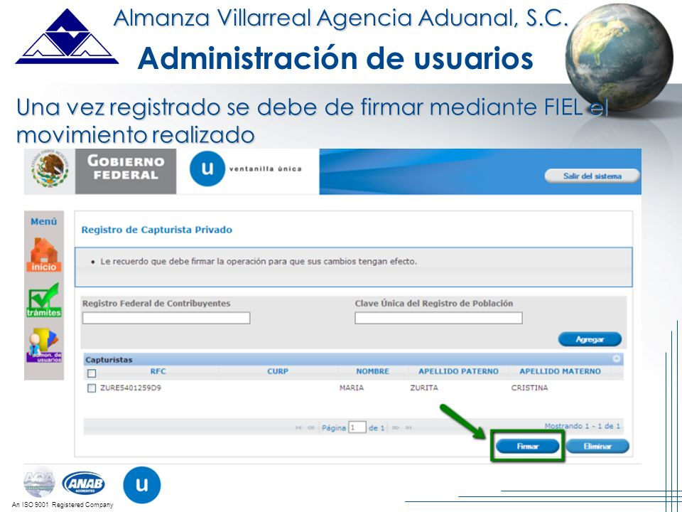 Administración de usuarios