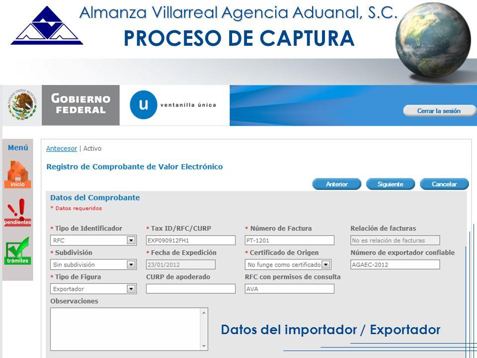 Datos del importador / Exportador