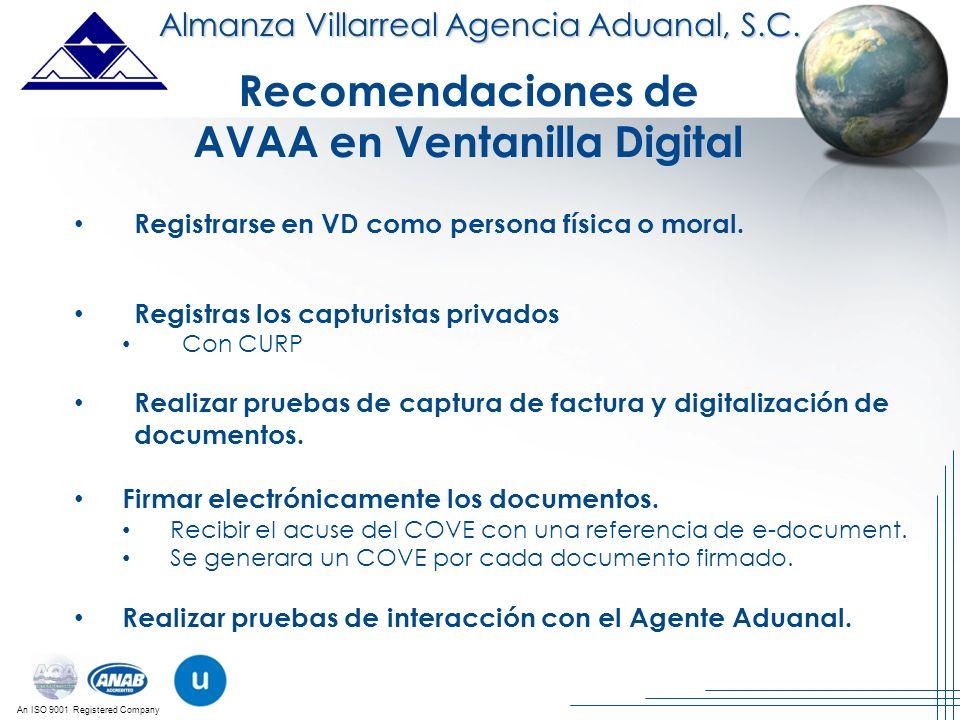 AVAA en Ventanilla Digital
