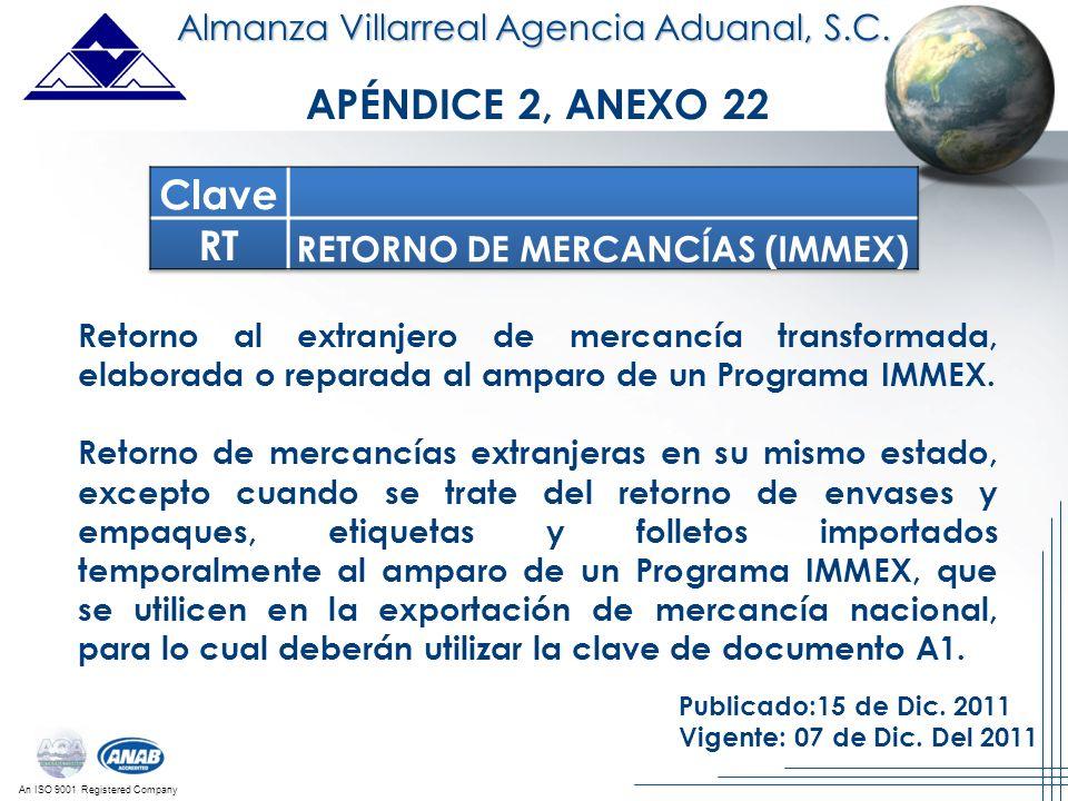 RETORNO DE MERCANCÍAS (IMMEX)