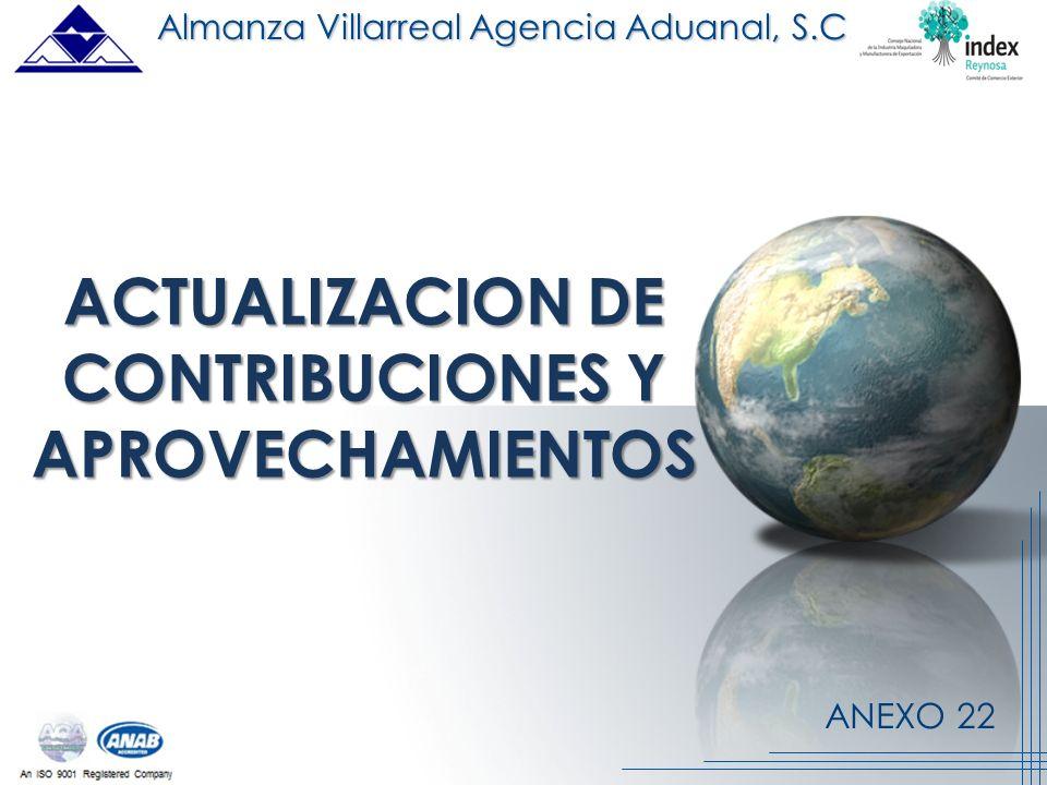 ACTUALIZACION DE CONTRIBUCIONES Y APROVECHAMIENTOS