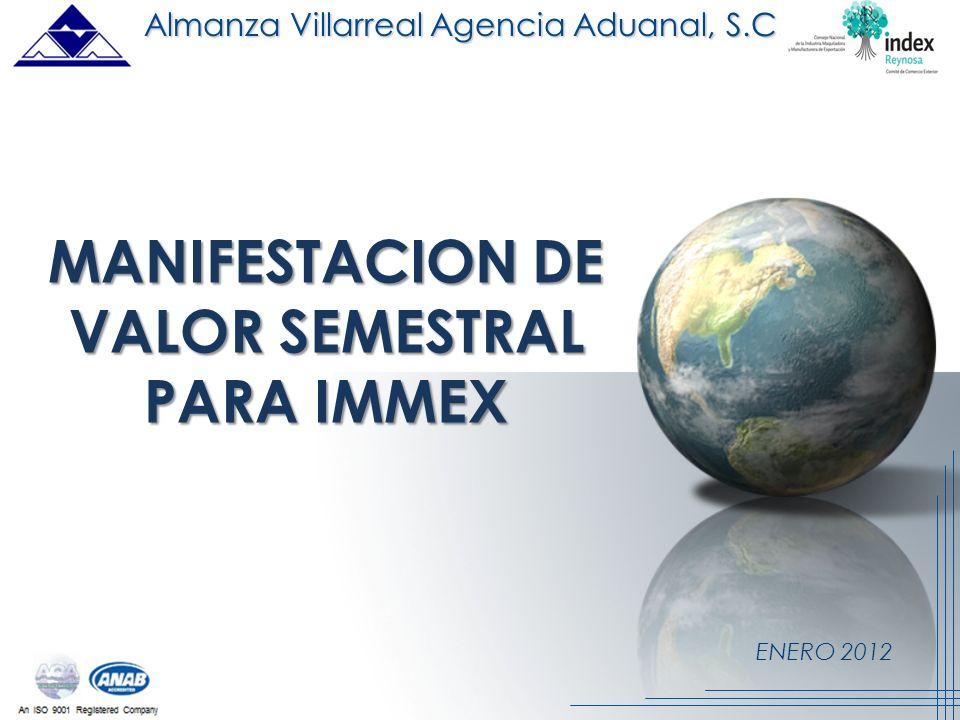 MANIFESTACION DE VALOR SEMESTRAL