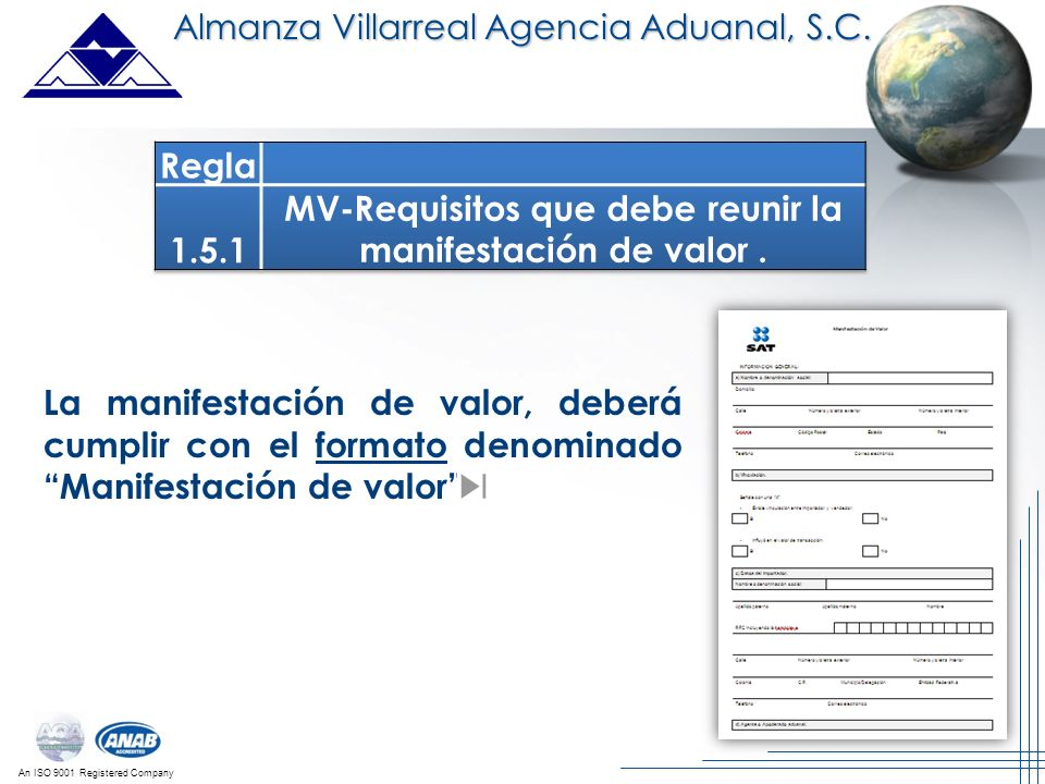 MV-Requisitos que debe reunir la manifestación de valor .