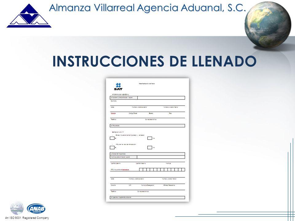 INSTRUCCIONES DE LLENADO