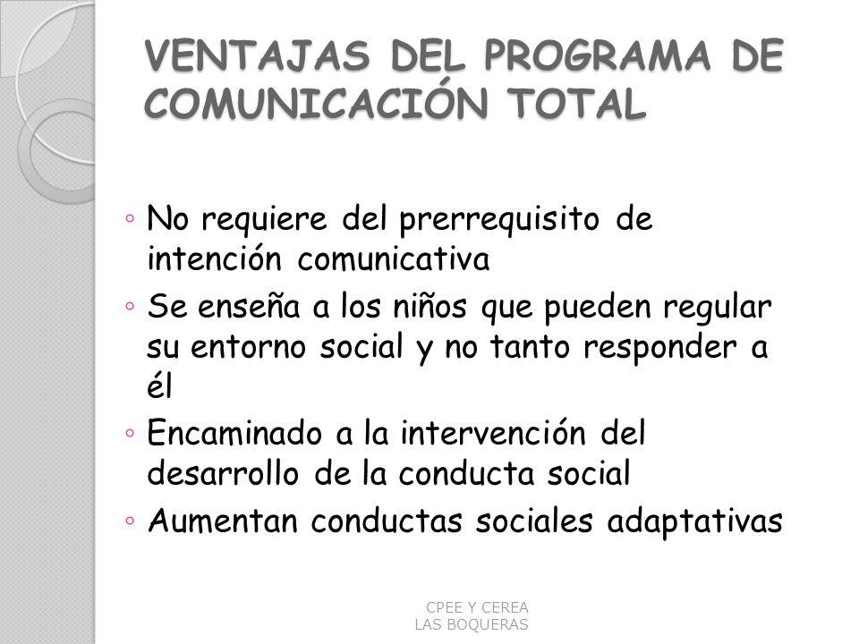 VENTAJAS DEL PROGRAMA DE COMUNICACIÓN TOTAL
