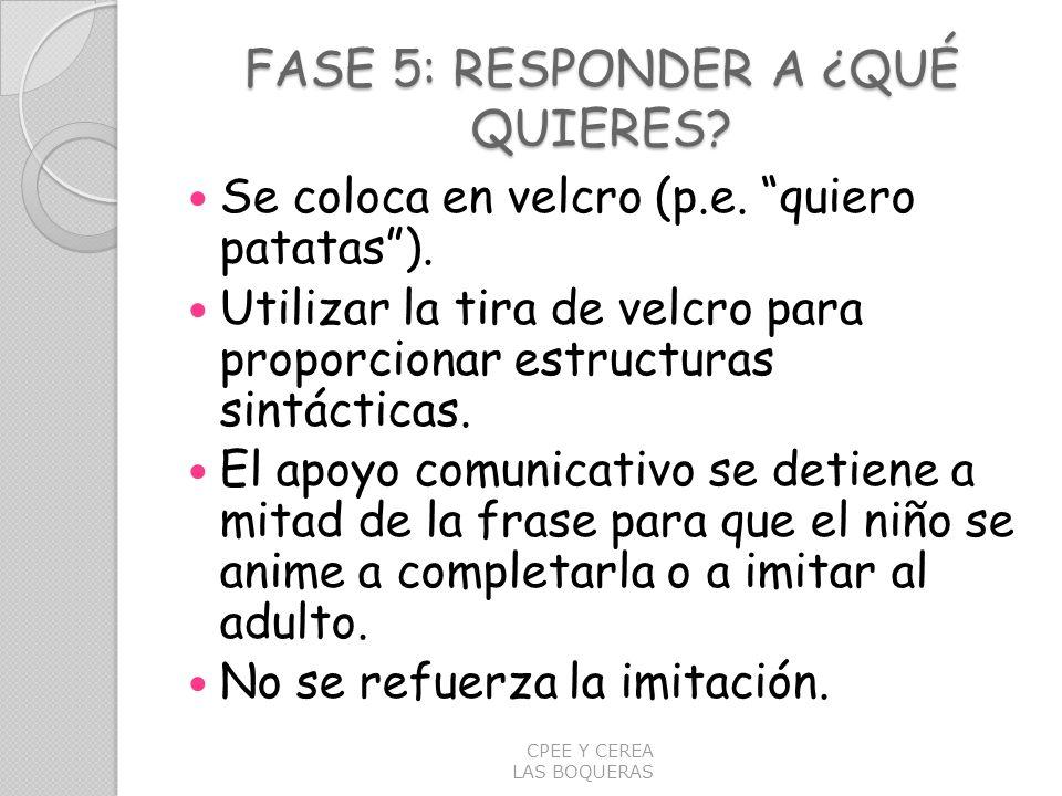 FASE 5: RESPONDER A ¿QUÉ QUIERES