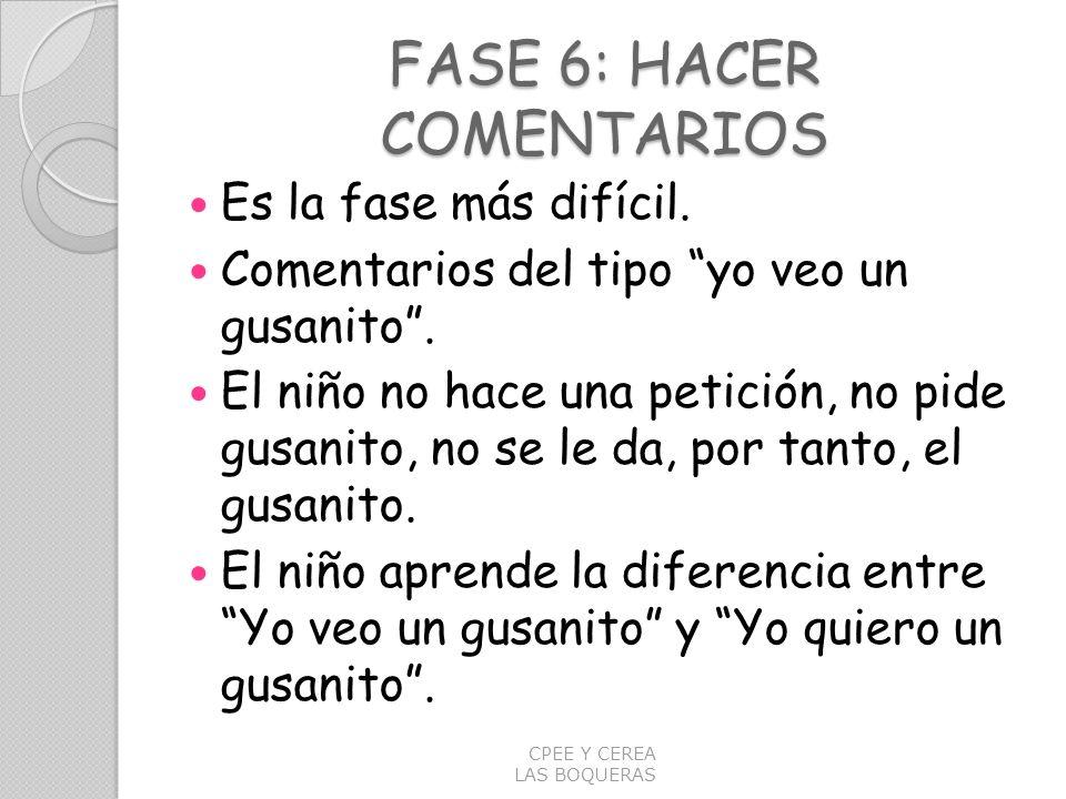 FASE 6: HACER COMENTARIOS