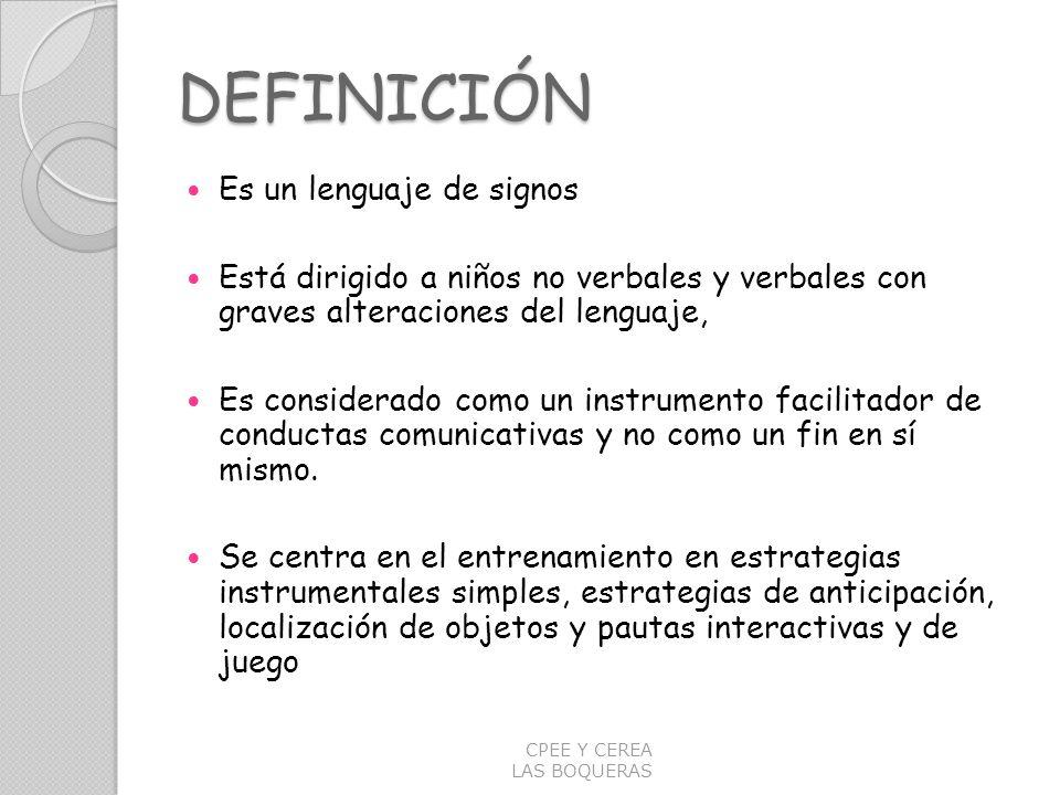 DEFINICIÓN Es un lenguaje de signos