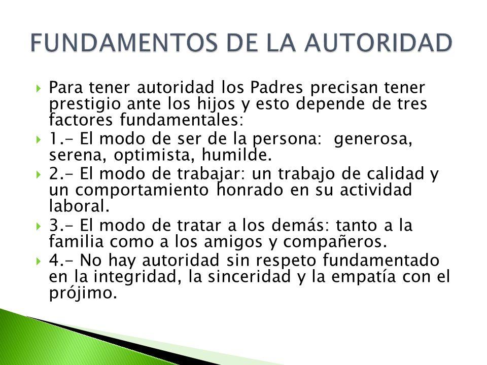 FUNDAMENTOS DE LA AUTORIDAD