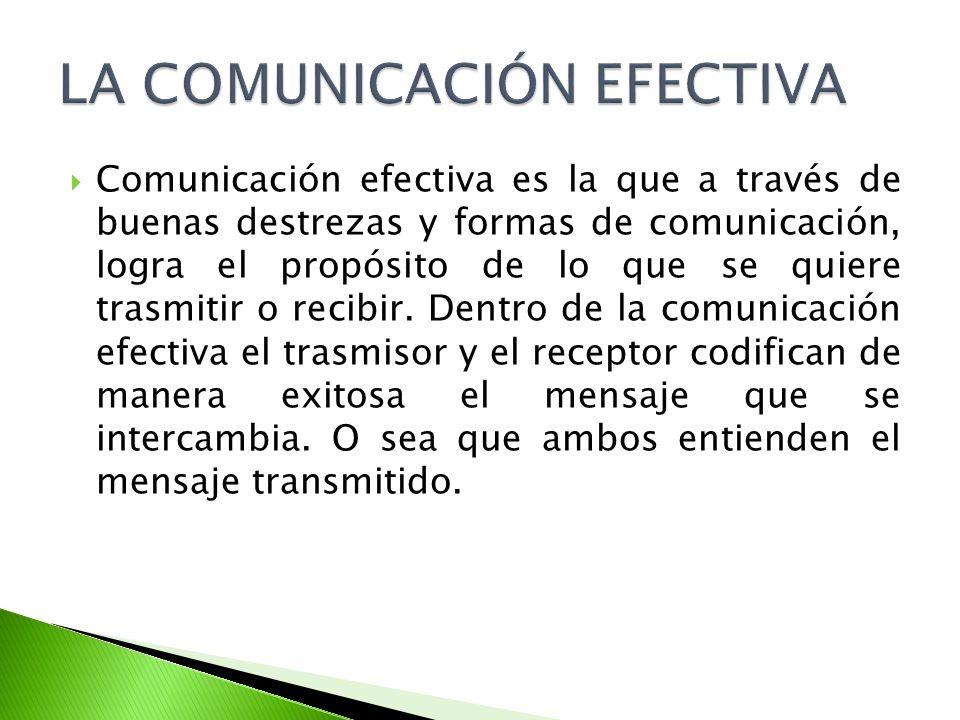 LA COMUNICACIÓN EFECTIVA
