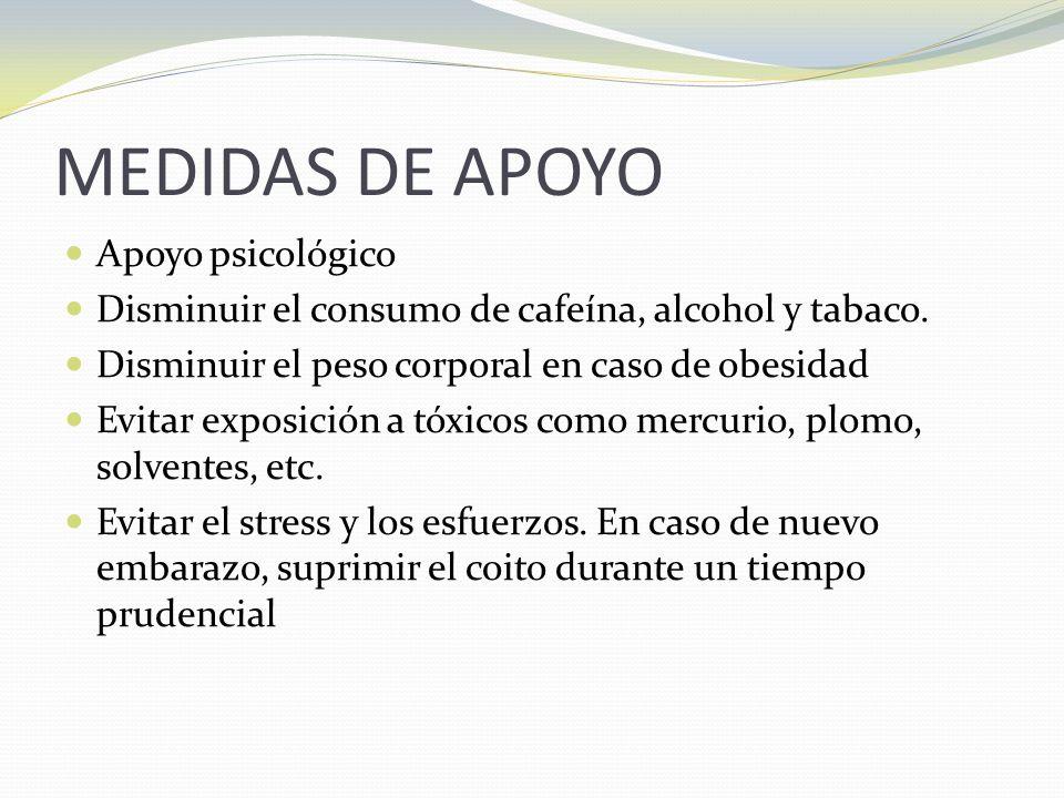MEDIDAS DE APOYO Apoyo psicológico