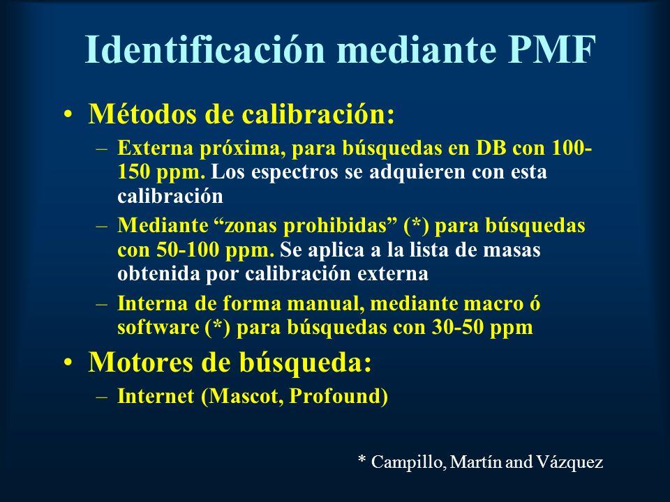 Identificación mediante PMF