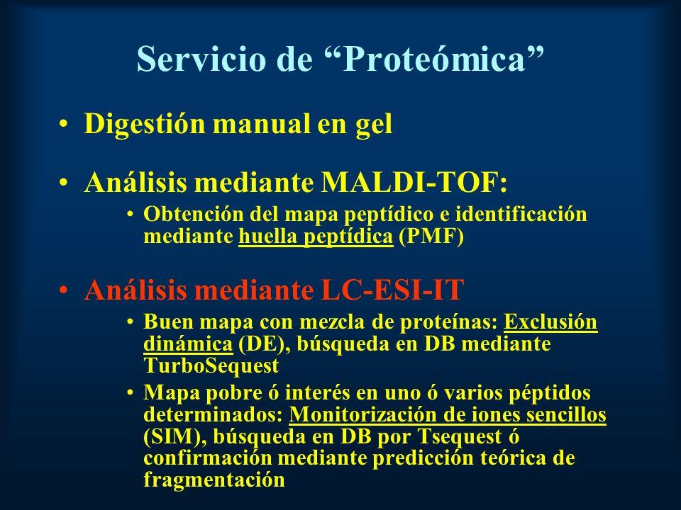 Servicio de Proteómica