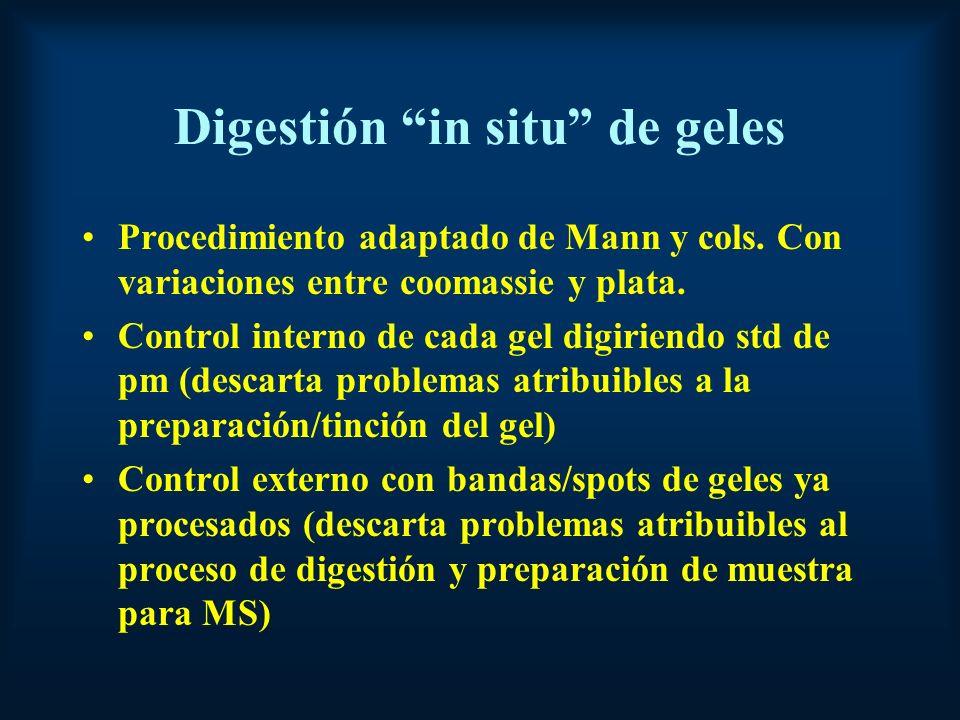 Digestión in situ de geles