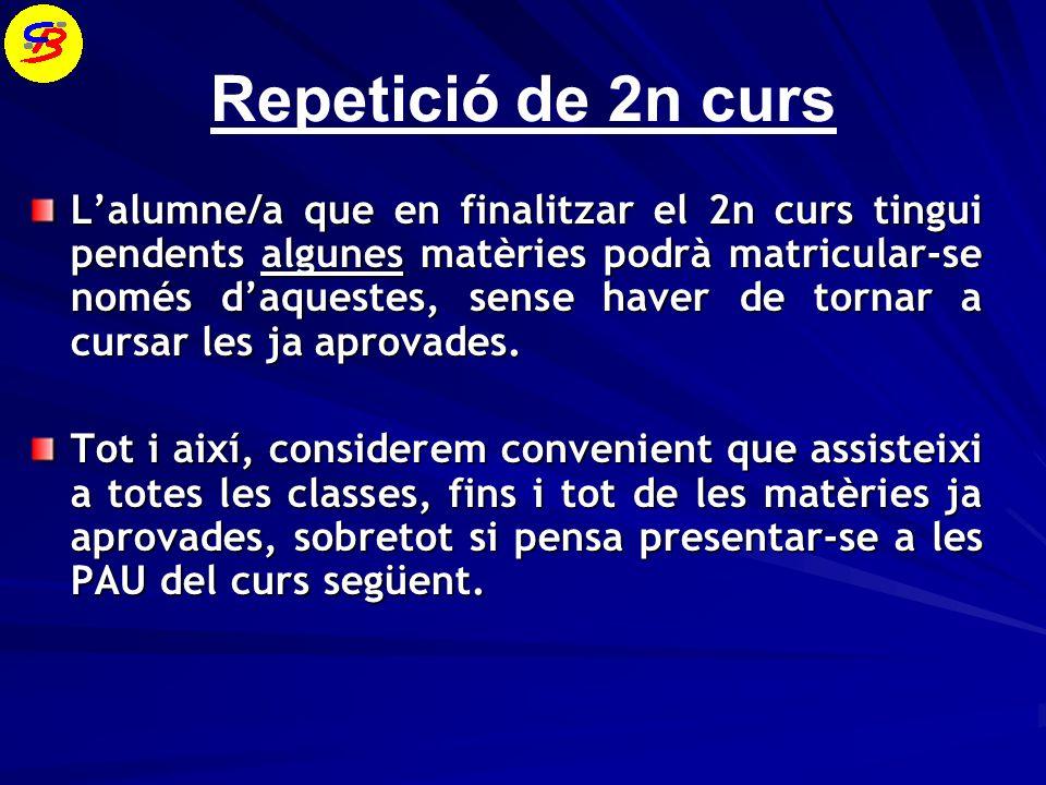 Repetició de 2n curs