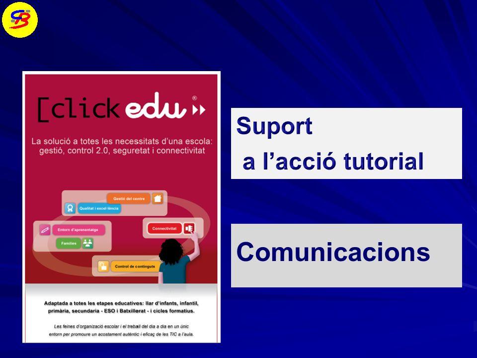 Suport a l'acció tutorial Comunicacions