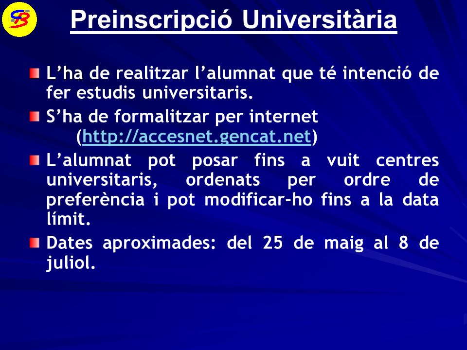 Preinscripció Universitària
