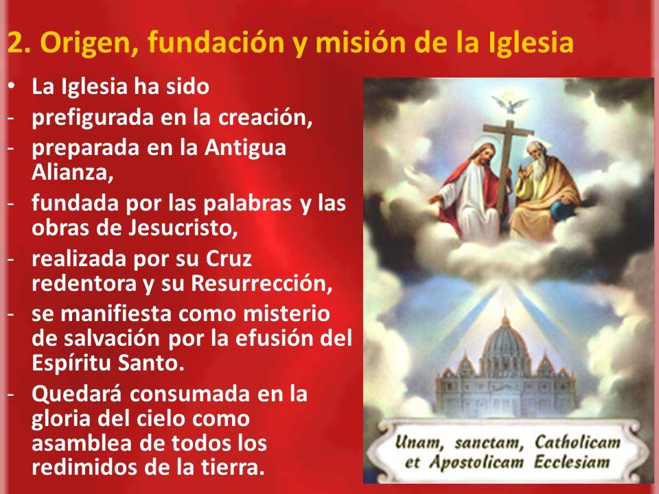 2. Origen, fundación y misión de la Iglesia