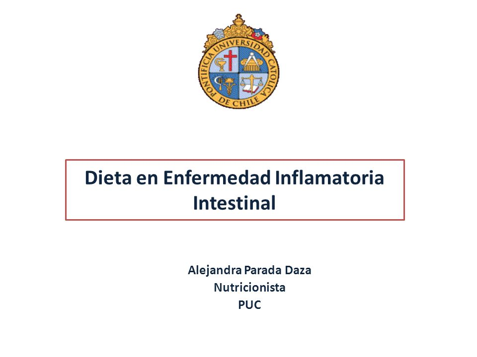 Dieta en Enfermedad Inflamatoria Intestinal