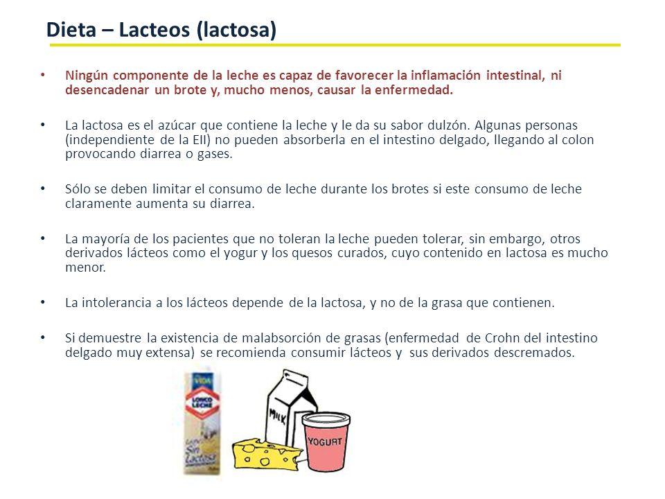 Dieta – Lacteos (lactosa)