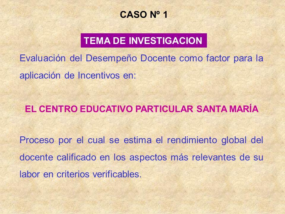 EL CENTRO EDUCATIVO PARTICULAR SANTA MARÍA