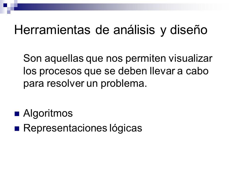 Herramientas de análisis y diseño