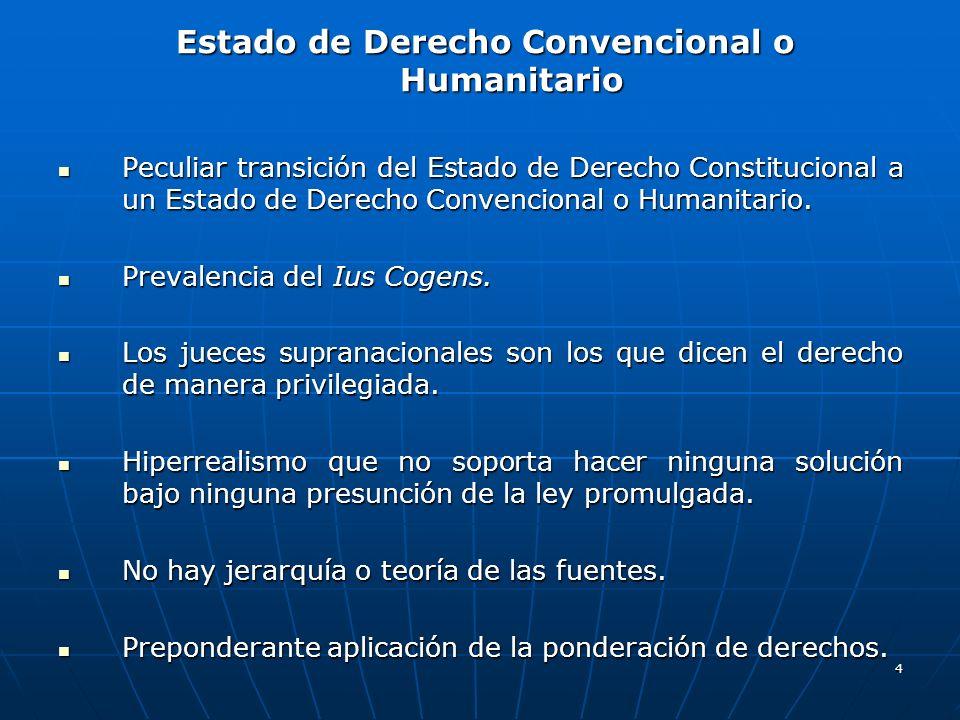 Estado de Derecho Convencional o Humanitario