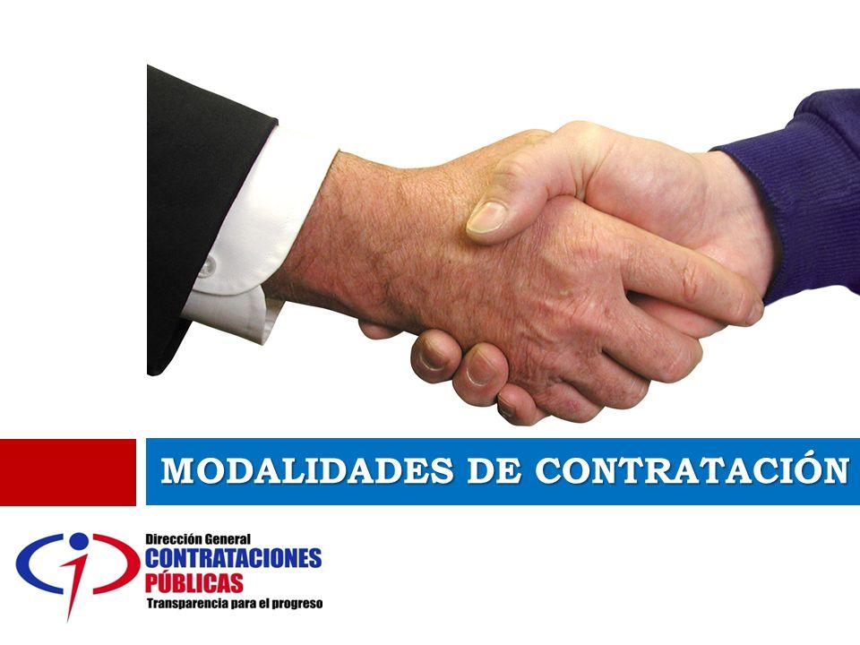 MODALIDADES DE CONTRATACIÓN