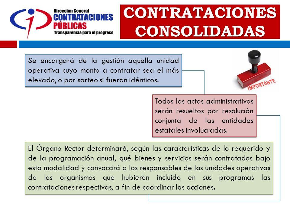 CONTRATACIONES CONSOLIDADAS